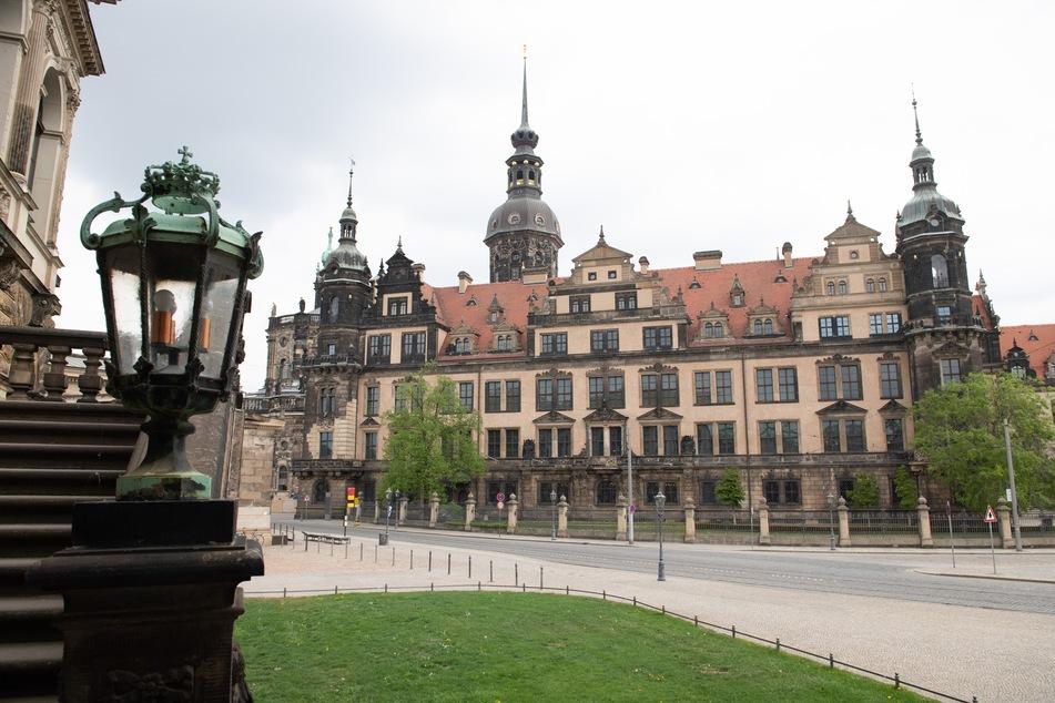Das Residenzschloss mit dem Historischen Grünen Gewölbe der Staatlichen Kunstsammlungen Dresden (SKD).