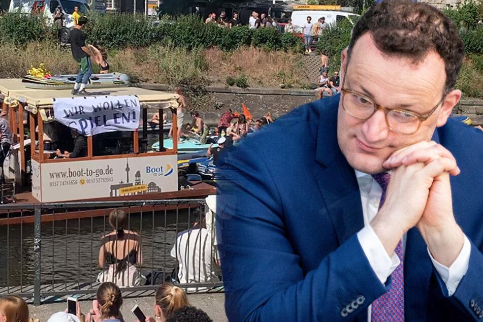 """Spahn über Schlauchboot-Party in Berlin: """"Diese Bilder bereiten mir Sorge"""""""