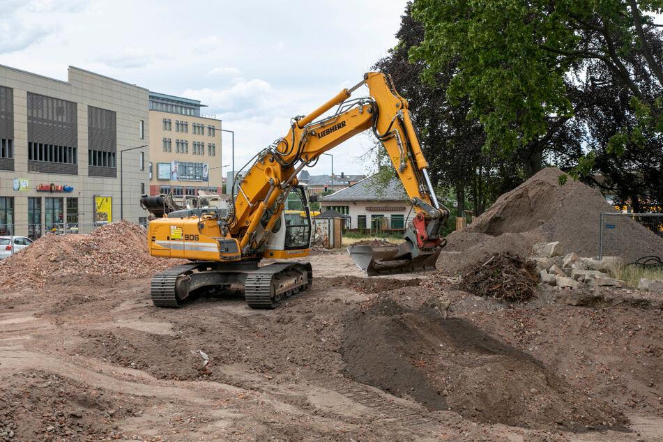 Aktuell wird auch am Rathauspark Löbtau gebaut.