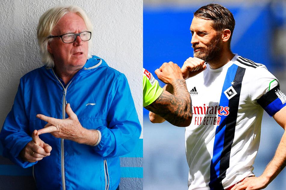 Trainer-Legender Winfried Schäfer (71, l.) will den scheidenden HSV-Routinier Aaron Hunt (34) zum Al-Khor SC nach Katar holen. (Archivfotos)