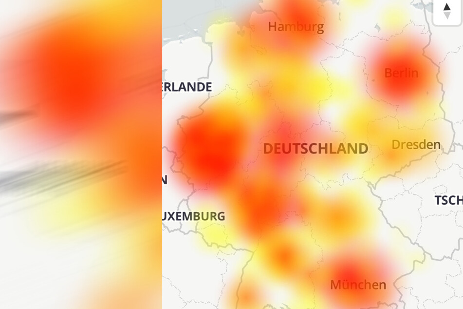 Vodafone-Kunden sind von den umfangreichen Störungen betroffen.