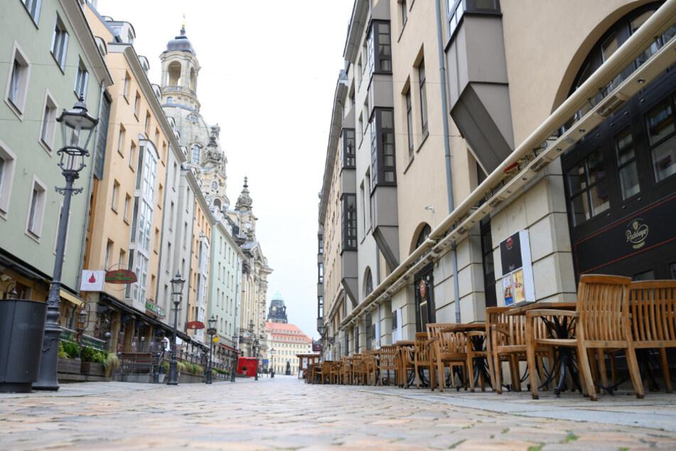 Noch hört man in der Münzgasse in Dresden die Nadel fallen. Schon bald, könnte hier wieder Leben einkehren.