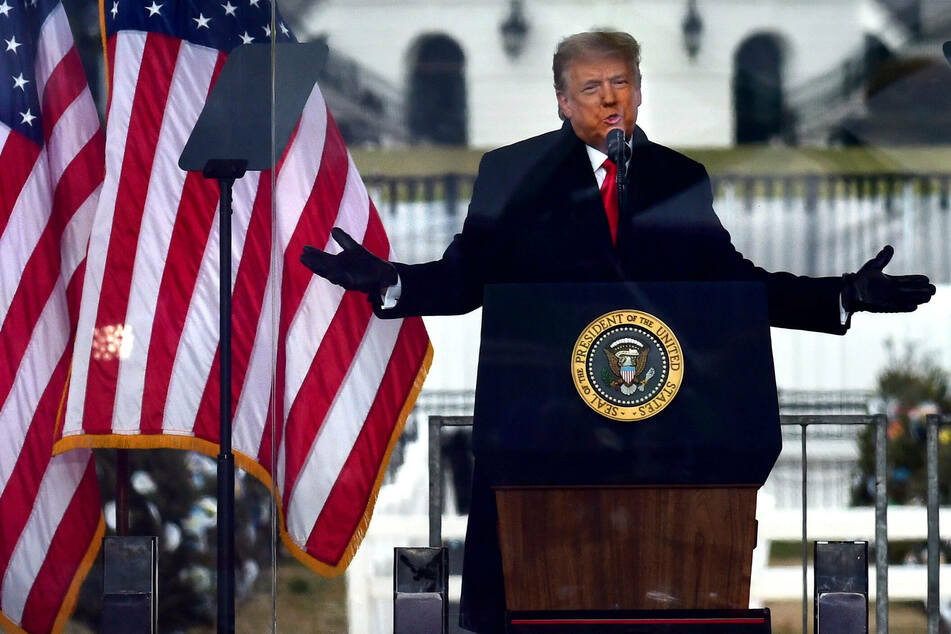 Donald Trump spoke to his supporters at a rally on Wednesday. His rhetoric incited many to storm the US Capitol later that day.