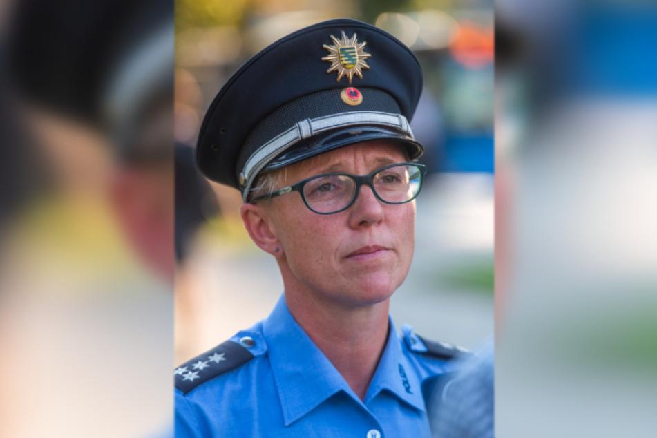 """Polizeisprecherin Jana Ulbricht (43) kündigt für Silvester und Neujahr verschärfte Kontrollen und """"deutlich mehr Einsatzkräfte"""" an."""