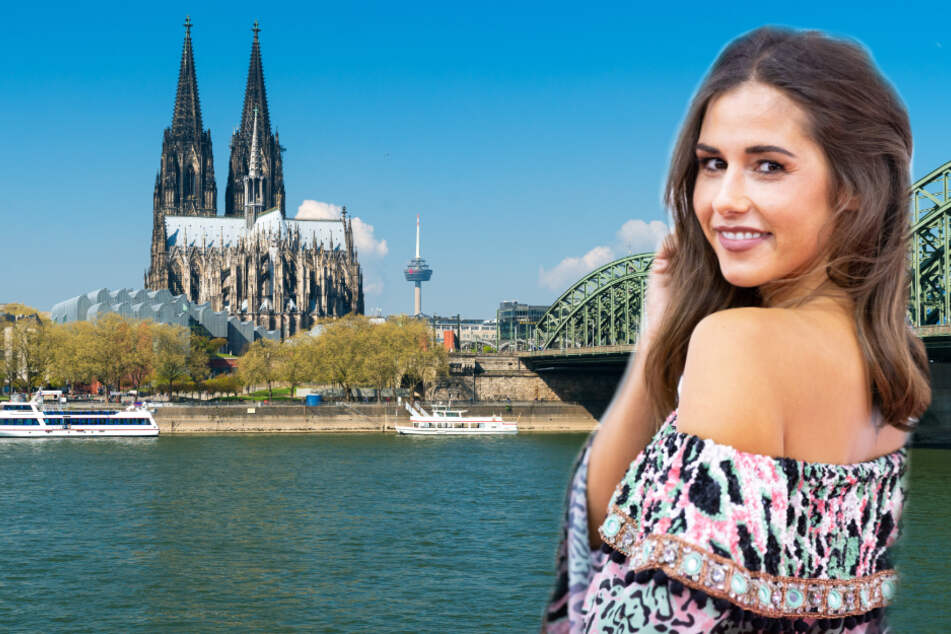Sarah Lombardi posiert vor Kölner Dom und bekommt Liebesbotschaft