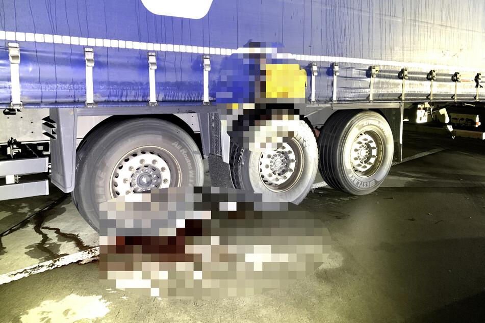 El hombre de 45 años fue capturado en este momento.  Un hombre murió en el lugar del accidente.