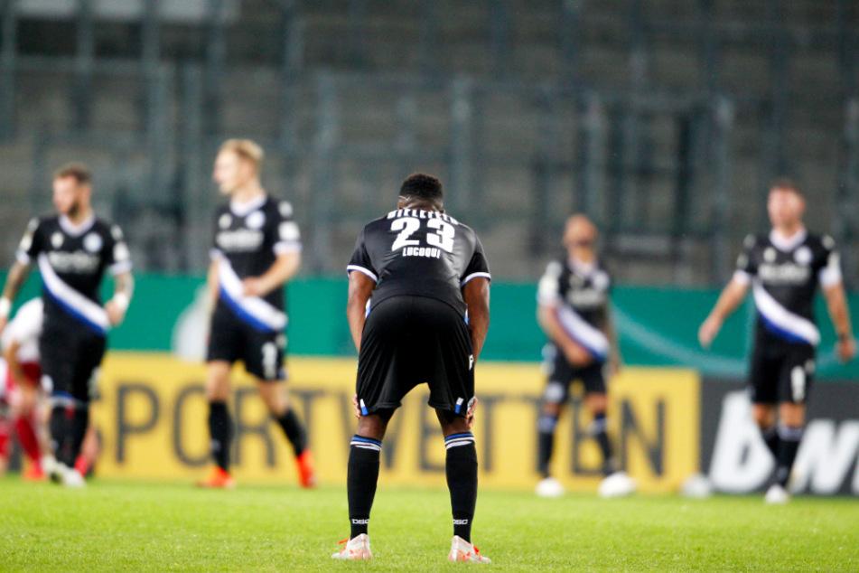 Eine der wenigen Pokalüberraschungen der 1. Runde: Arminia Bielefeld flog beim ambitionierten Regionalligisten Rot-Weiss Essen aus dem Wettbewerb.