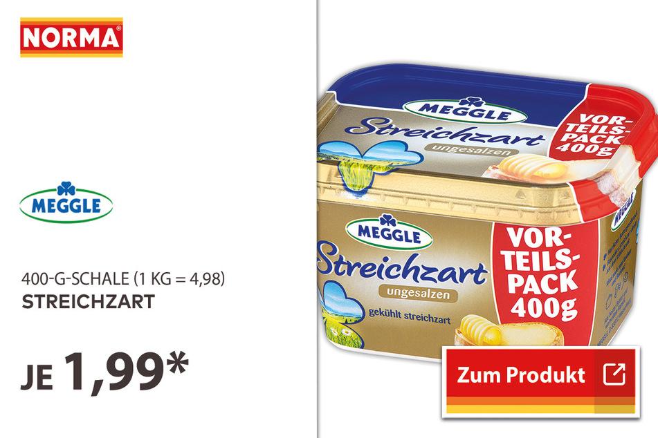 Meggle Streichzart für 1,99 Euro.