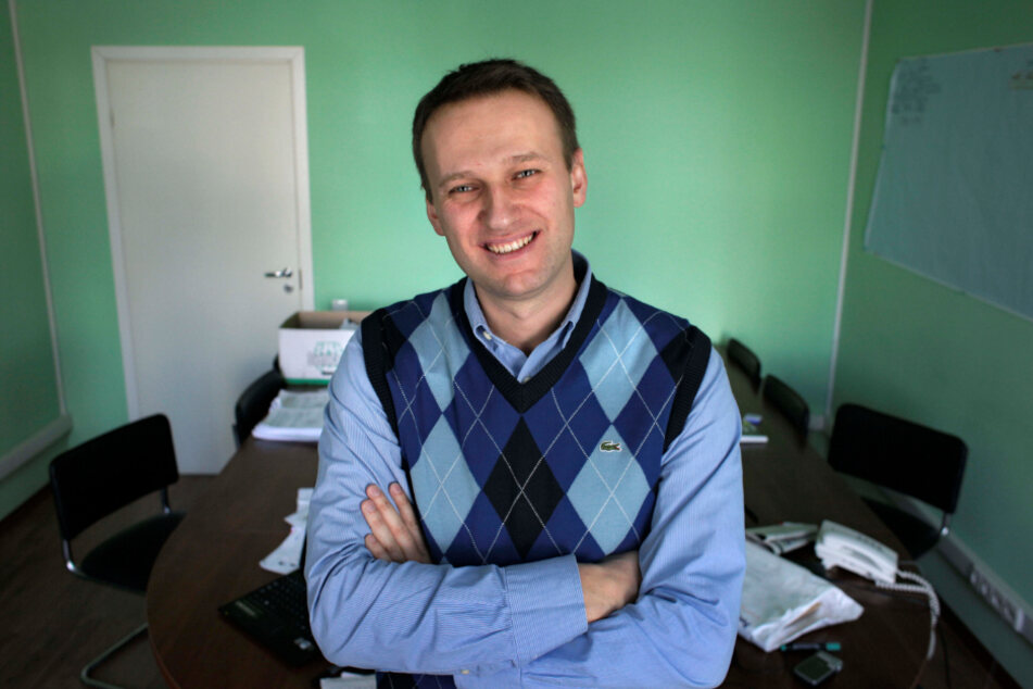 Alexei Navalny, opposition leader from Russia, in his office in Moscow in March 2010.