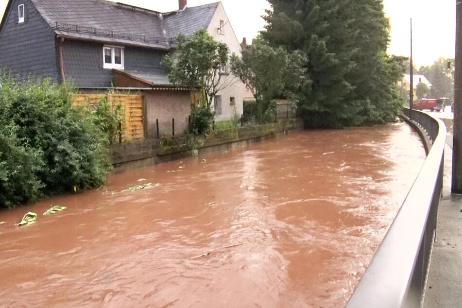 Auch im Erzgebirge gab es im Juli heftige Hochwasser.