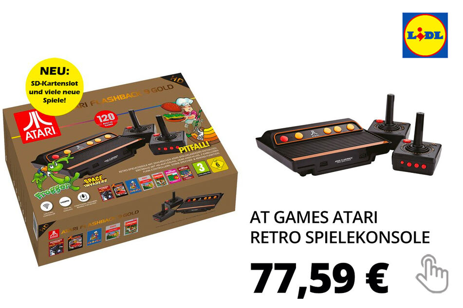 AT Games ATARI Flashback 9 Gold HD Retro Spielekonsole