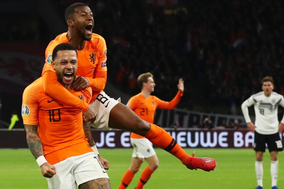Memphis Depay (l.) traf in den letzten Jahren gerne gegen Deutschland.