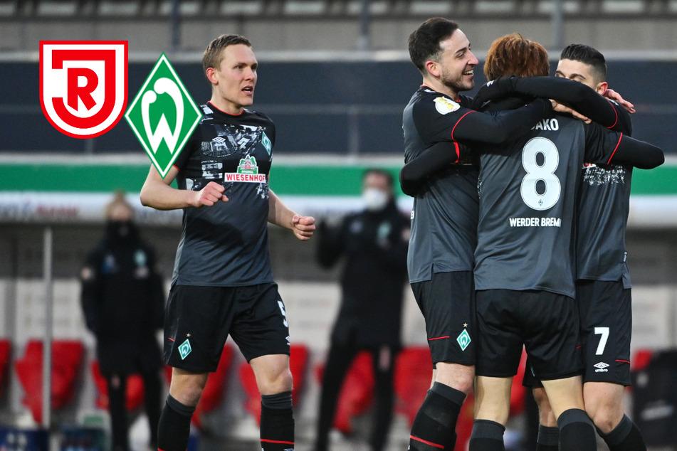 Yuya Osako schießt Werder Bremen in Regensburg ins Pokal-Halbfinale!