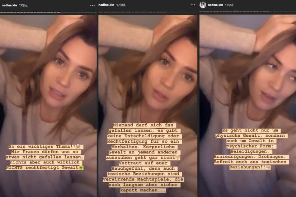 Auf Instagram will Nadine Klein (34) auf psychische und physische Gewalt an Frauen aufmerksam machen.