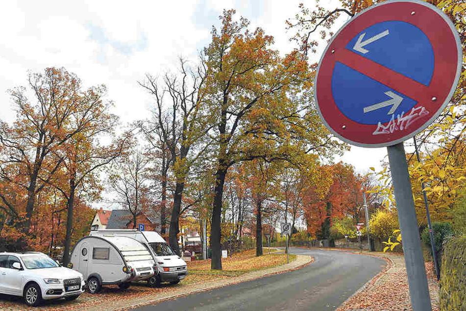 Der rundliche Wohnanhänger soll laut Anwohnern seit einem Jahr an der  Krügerstraße geparkt sein. Erlaubt sind zwei Wochen.
