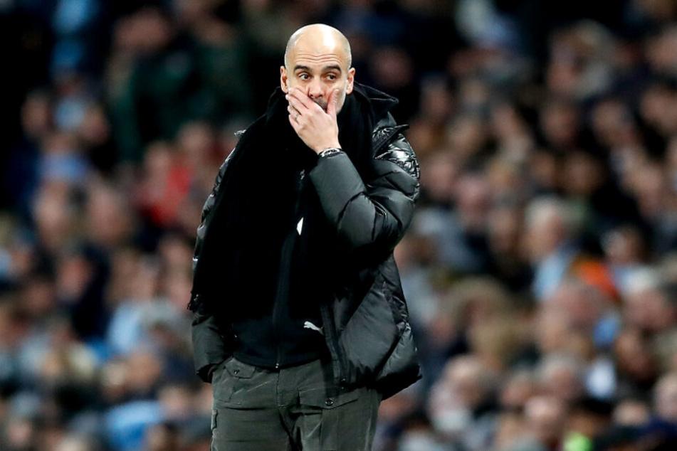 Wird am Sonntag auch nicht im chinesischen TV zu sehen sein: Pep Guardiola und sein Team Manchester City.