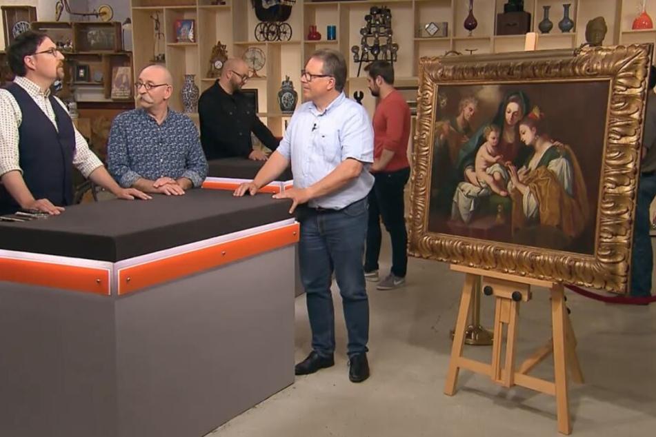 Das alte Gemälde soll etwa 400 Jahre alt sein.