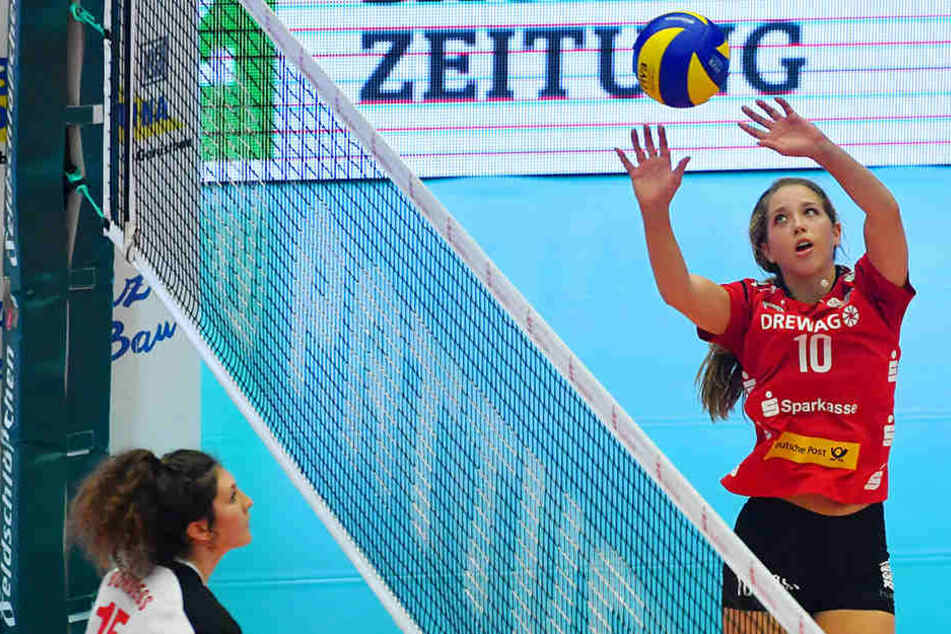 Auf erfolgreiche Zuspiele von Madison Bugg hofft der Dresdner SC auch gegen Suhl.
