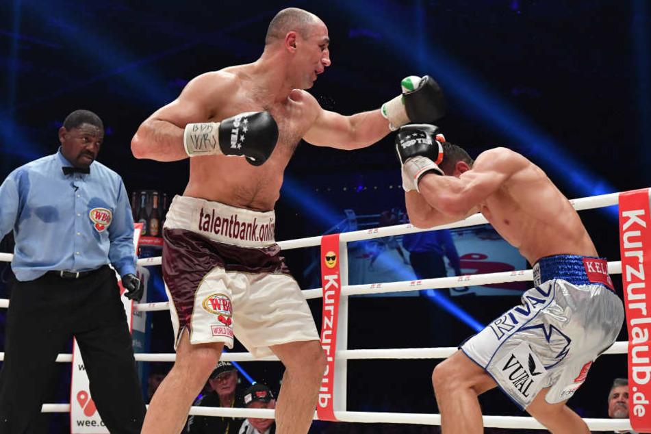 Arthur Abraham besiegte Robin Krasniqi klar nach Punkten.