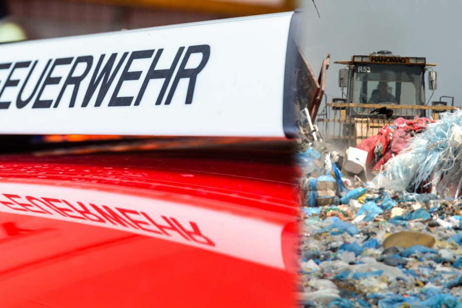 Großeinsatz für Feuerwehr: Brand auf Gelände von Mülldeponie bei Kassel