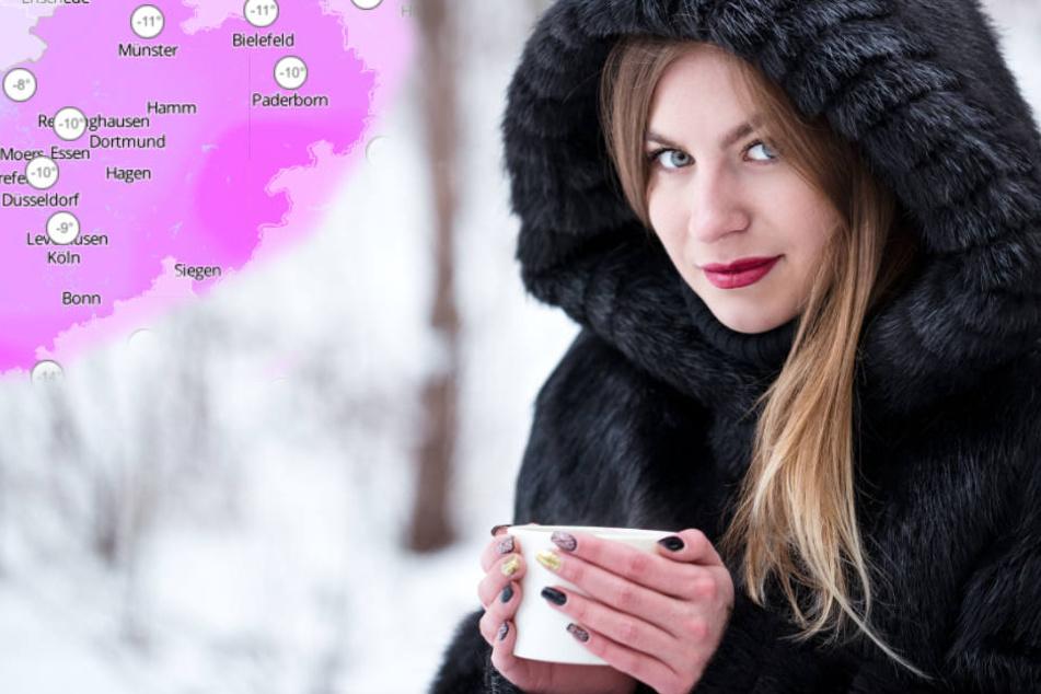 Bei der Eiseskälte ist warme Kleidung wichtig.