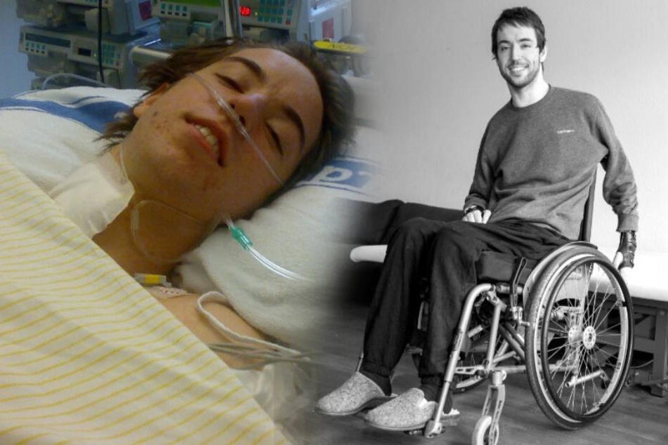 Nach seinem Badeunfall sitzt Raphael im Rollstuhl.