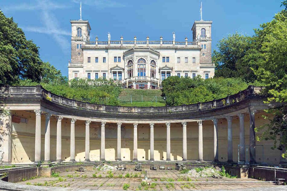 Das 1850 erbaute Schloss Albrechtsberg am Elbhang: Jetzt soll sein letztes  Geheimnis gelüftet werden!
