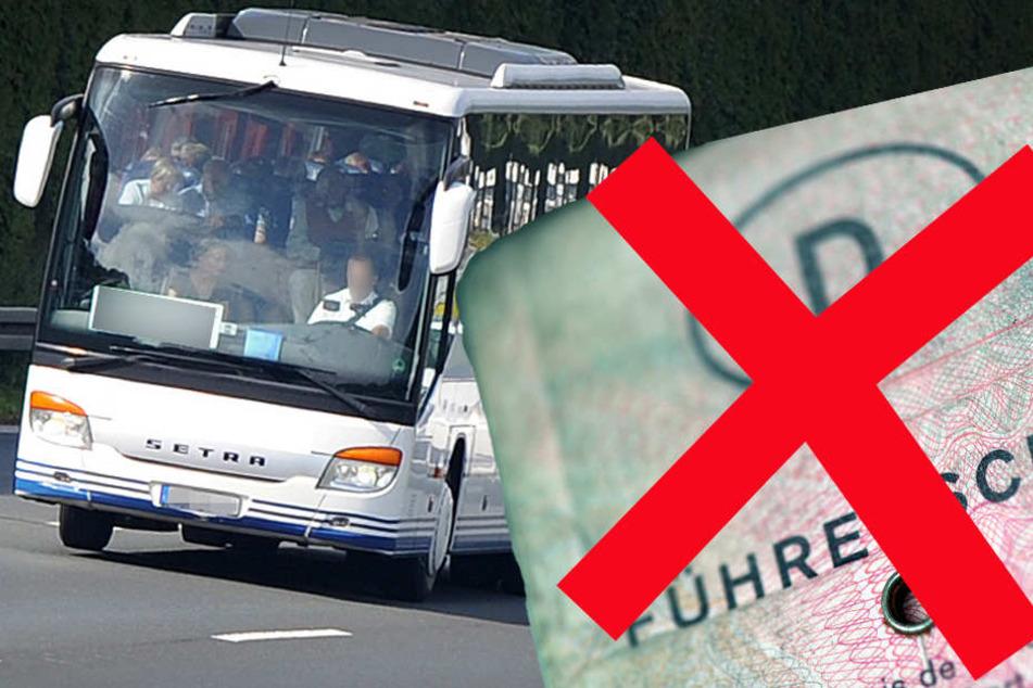 Die Polizei erwischte einen Busfahrer mit abgelaufenem Führerschein.