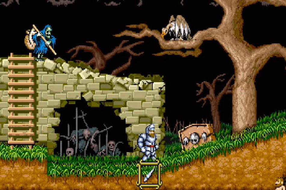 """Der Mittelalter-Klassiker """"Ghouls 'n Ghosts"""" (1988) ist in jener Form spielbar, wie er es auch vor dem letzte iOS-Remaster 2017 war."""