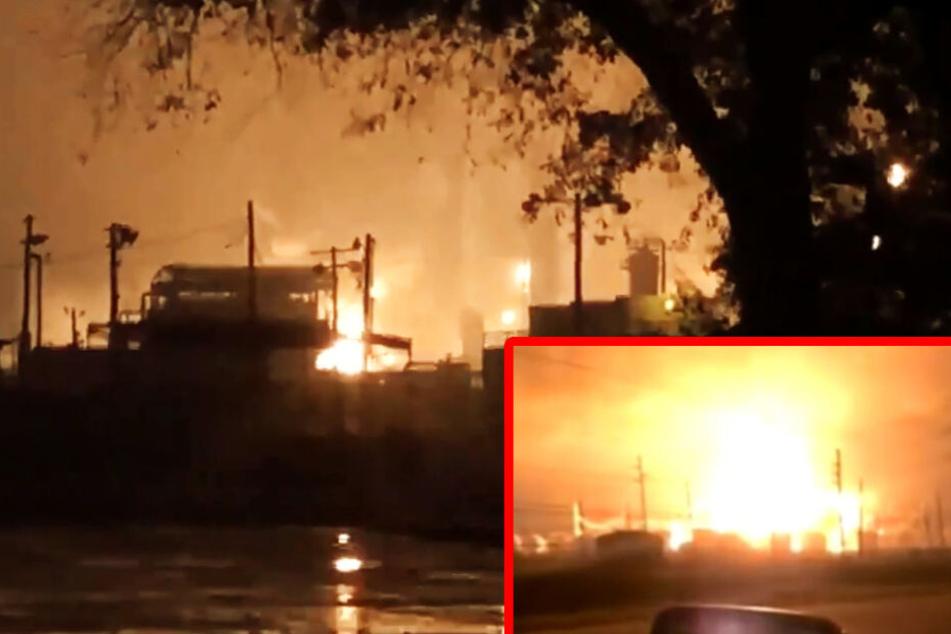 Explosion in Chemiefabrik: Gefährliches Gas tritt aus