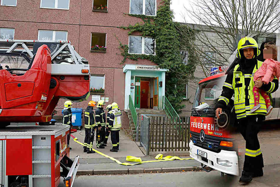 Brand im Keller: Chemnitzer Kita evakuiert