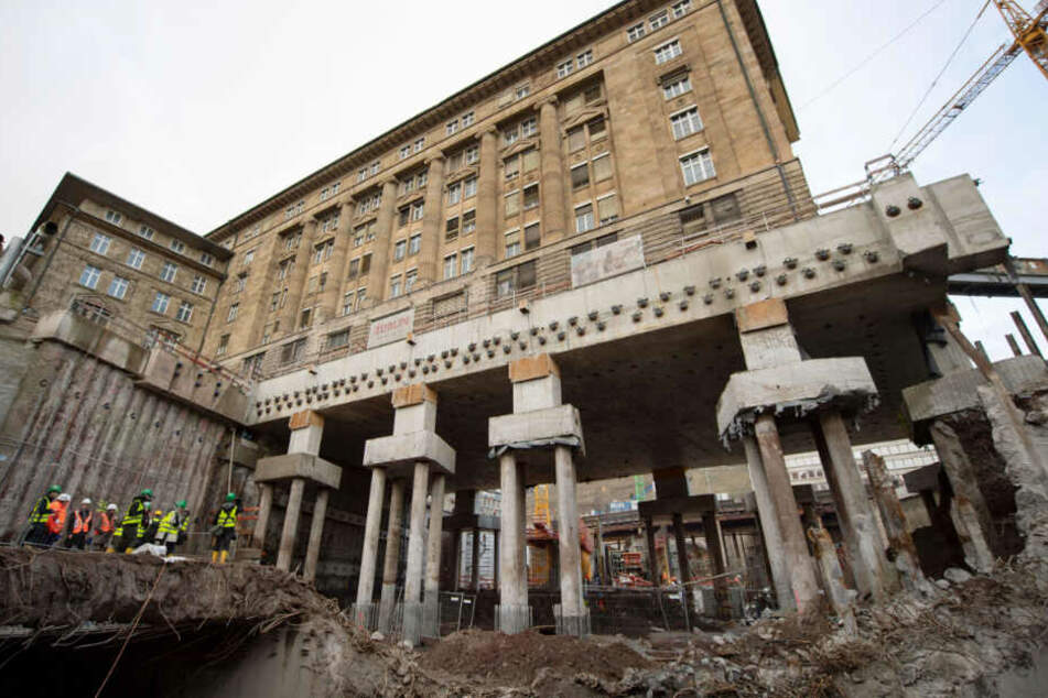 Ein Teil der Baustelle des Milliarden-Projekts Stuttgart 21.