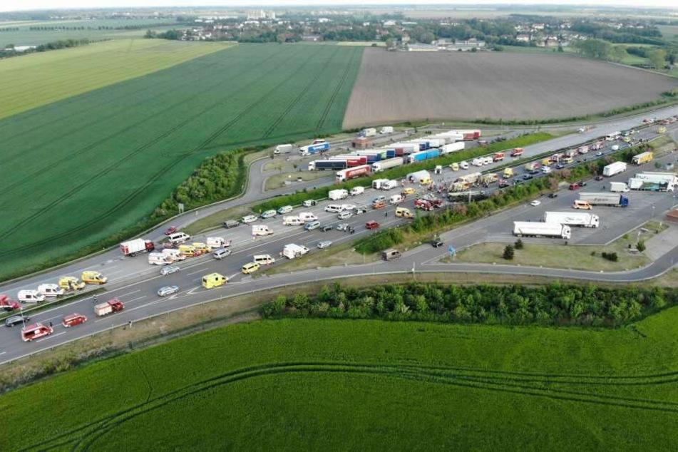 Ein Luftbild von der Unfallstelle.