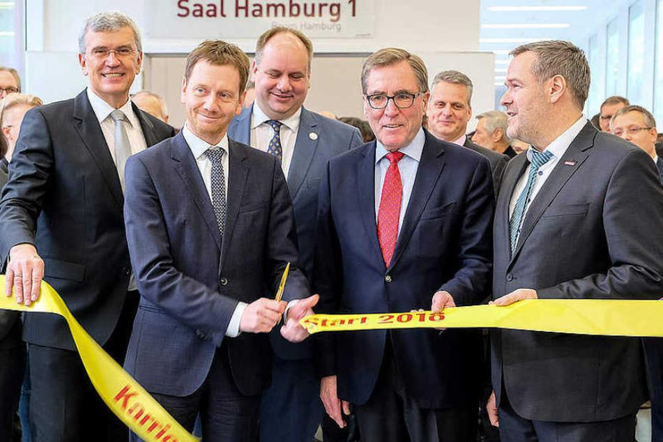 Sachsens Ministerpräsident Michael Kretschmer (42) eröffnete die 20. KarriereStart.