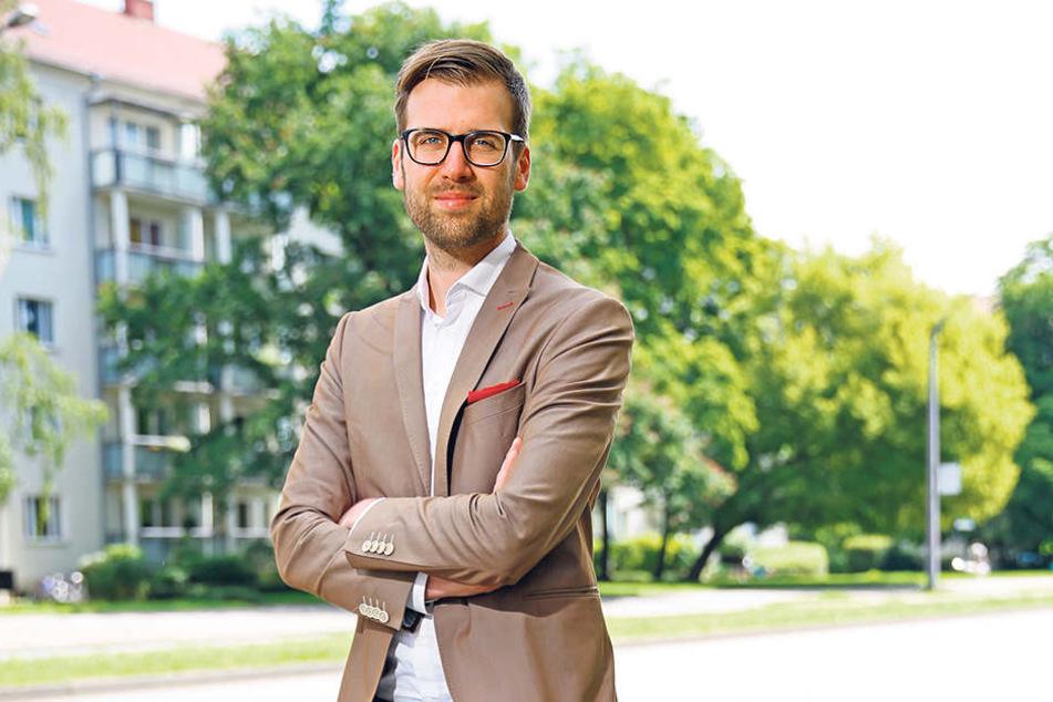 Richard Kaniewski (30), Chef der Dresdner SPD, ist beschämt.