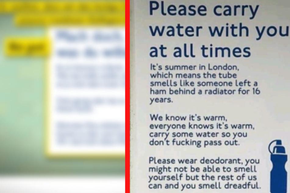 Mit diesem Plakat sorgte die London Tube für Aufsehen.