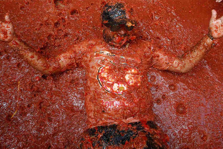 Wie sich das Bad in Tomatensoße wohl anfühlt...