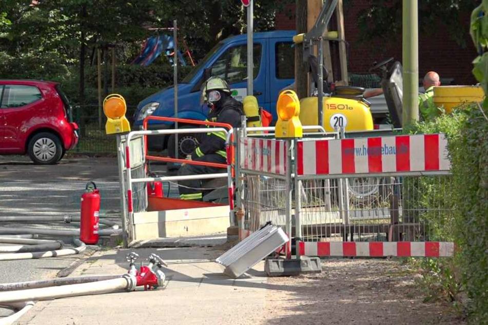 Das Gas war aus einer Leitung an der Baustelle geströmt.