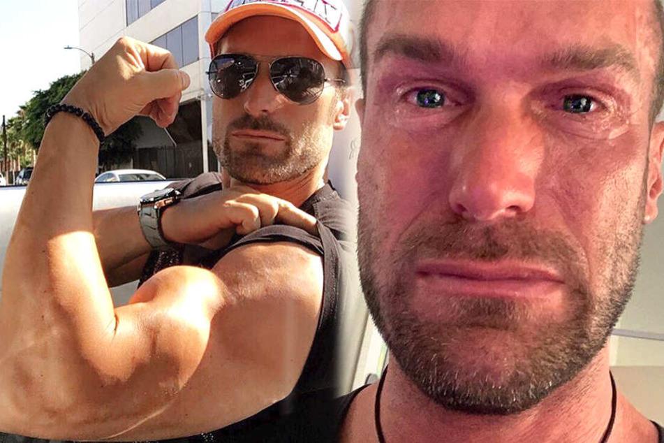 """Bastian Yotta (42) ist eigentlich """"strong and healthy"""". Hier fließen ihm die Tränen über das Gesicht."""