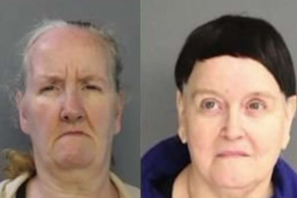 Die ältesten Bewohner des Horror-Hauses waren die Geschwister Mary Buchan (56, li.) und Patricia Gamarra (63, r.).
