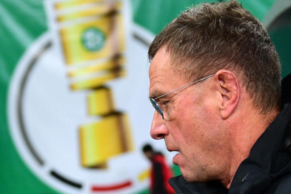 Trainer und Sportdirektor Ralf Rangnick erreichte mit RB Leipzig erstmals das DFB-Pokal-Viertelfinale.