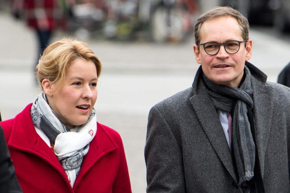 Michael Müller soll Franziska Giffey den Vortritt lassen und nicht noch einmal für Berlins SPD-Vorsitz kandidieren.