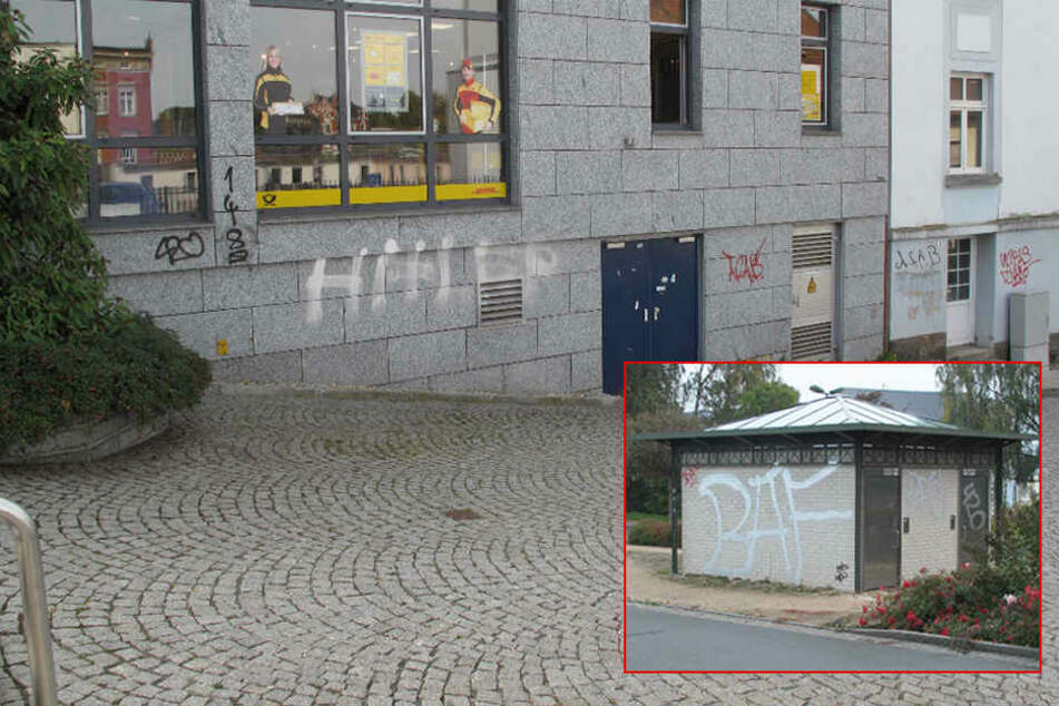 Graffiti-Attacke im Vogtland: Häuser, Türen und Autos beschmiert!