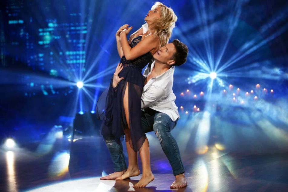 Evelyn Burcecki und Tanzpartner Evgeny Vinokurov geben alles, die Jury zeigte sich allerdings nicht sonderlich beeindruckt.