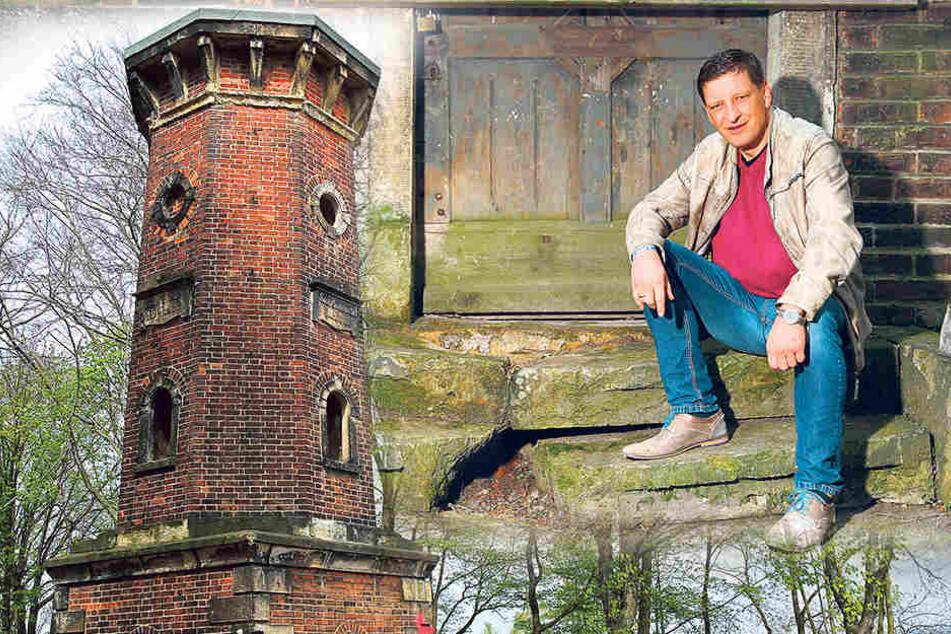 Der 1880 gebaute Lugturm in der Nähe der Dohnaer Straße wird als Ausflugsziel wiederbelebt. Die Ziele von Pächter Jens Genschmar (48) sind Sanierung und Wiedereröffnung.