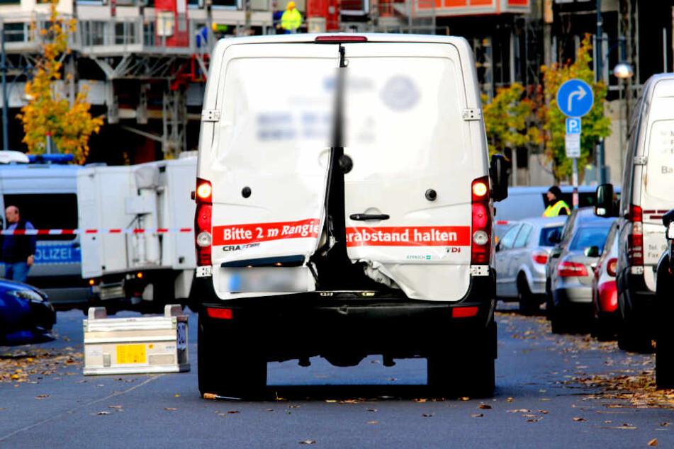 In der Nähe des Berliner Alexanderplatzes wurde am Freitagmorgen ein Geldtransporter überfallen.