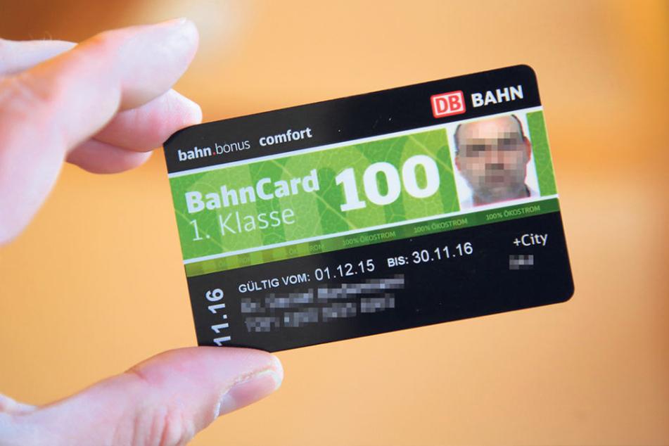 Eine der erschwindelten Bahn-Cards: Auf dem Foto ist Ingo S., aber die Karte  ist auf einen fiktiven Doktor Daniel B. ausgestellt.