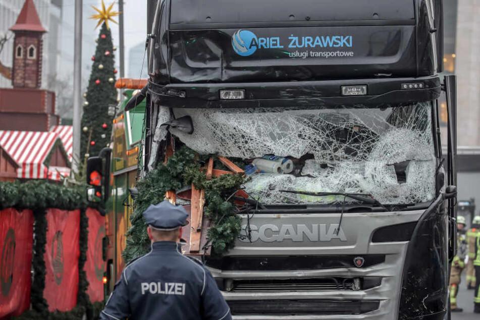 Mit diesem LKW raste Anis Amri in den Berliner Weihnachtsmarkt am Breitscheidplatz.