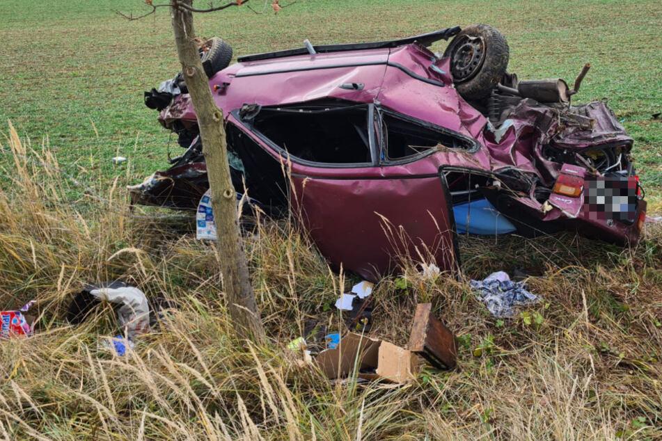 Fahrer am Steuer eingenickt! 35-Jähriger bei Unfall auf der A14 schwer verletzt