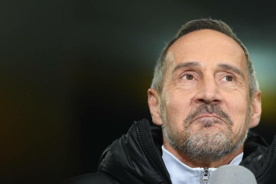 """""""In Dortmund kann man verlieren, aber die Art und Weise stört mich"""", sagte Eintracht-Coach Adi Hütter."""